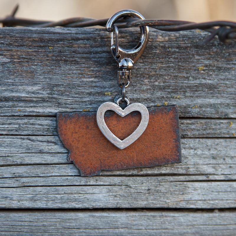 Montana or Bust! Montana/Open Heart Clasp #PBC3