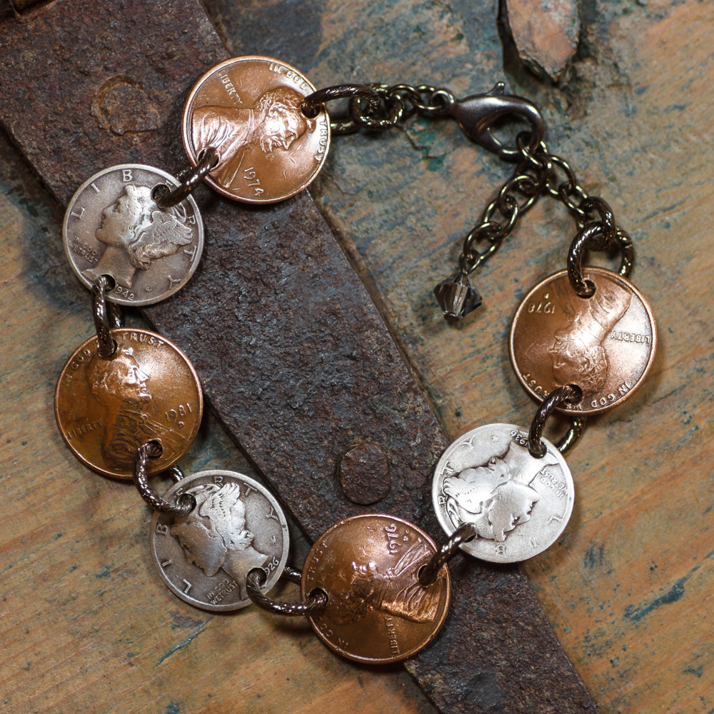 American Heritage Penny-Dime Bracelet #BC71