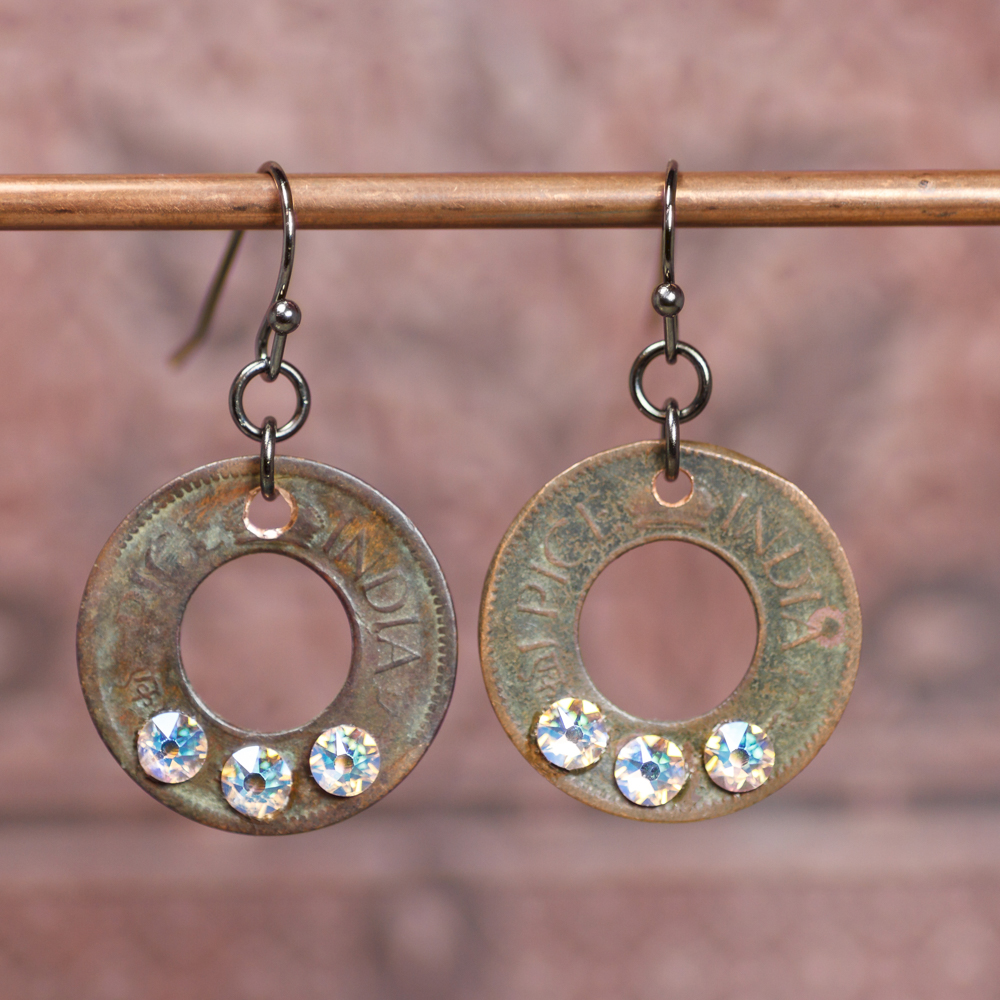 Rhubarb Cream Coin Earrings #EW546-181