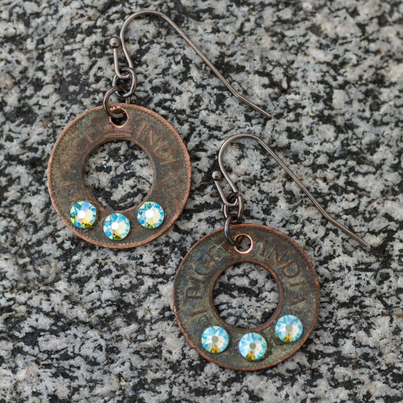 Sunny Brook Coin Earrings #EW546-162